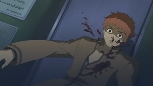 El protagonista muriendo al principio de la serie.